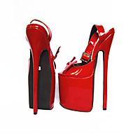 baratos Sapatos Femininos-Mulheres Sapatos Couro Ecológico Verão Plataforma Básica Saltos Salto Agulha Dedo Aberto Laço Fúcsia / Vermelho / Festas & Noite