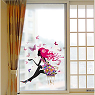 tanie סרטים ומדבקות לחלון-3D Print Współczesny Naklejka okienna Matowy/a, PVC/Vinyl Materiał Dekoracja okna Hall Salon