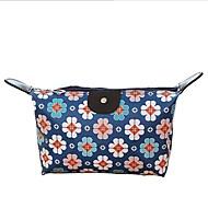 お買い得  コスメティックバッグ-レザーレット 幾何学模様 化粧ポーチ ジッパー のために カジュアル オールシーズン ダークブルー グレー イエロー レインボー