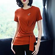 Majica s rukavima Žene-Vintage Slatko Dnevno Praznik Jednobojni