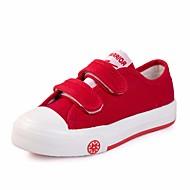 baratos Sapatos de Menina-Para Meninos / Para Meninas Sapatos Lona Primavera Conforto Tênis para Branco / Vermelho / Azul