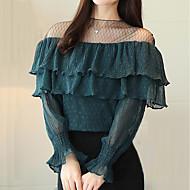 女性用 レース Tシャツ キュート ストリートファッション カラーブロック
