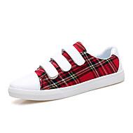 Homens sapatos Micofibra Sintética PU Primavera Outono Conforto Tênis para Casual Vermelho Castanho Escuro Verde Escuro