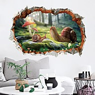 cheap Wall Stickers-Decorative Wall Stickers - Plane Wall Stickers Animals 3D Living Room Bedroom Bathroom Kitchen Dining Room Study Room / Office