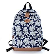 baratos Mochilas-Mulheres Bolsas Tela de pintura mochila Estampa Vermelho / Azul Escuro / Azul Real