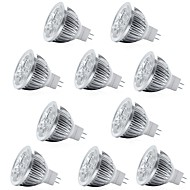 billiga Belysning-10pcs 4W 400lm MR16 LED-spotlights 4 LED-pärlor Högeffekts-LED Dekorativ Varmvit Kallvit 12V
