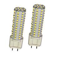 billige Kornpærer med LED-2pcs 10W 780lm G12 LED-kornpærer T 108 LED perler SMD 2835 Varm hvit Hvit 85-265V