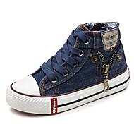 baratos Sapatos de Menino-Para Meninos / Para Meninas Sapatos Lona Primavera / Outono Conforto Tênis para Azul Escuro / Vermelho Escuro / Azul Claro