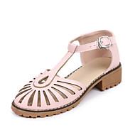 Sortie Avec Paypal Mujer Zapatos Cuero de Napa Verano Confort Bailarinas Tacón Cuadrado Punta cerrada Negro / Beige / Azul Acheter Pas Cher Footlocker 4yliKQFI3j