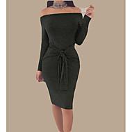 Dámské Párty Dovolená Základní Šik ven Vypasovaný Bodycon Šaty - Jednobarevné Délka ke kolenům Bez ramínek Pod rameny Úzký výstřih / Sexy