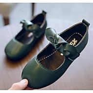 baratos Sapatos de Menina-Para Meninas Sapatos Couro Ecológico Primavera / Outono Conforto / Sapatos para Daminhas de Honra Rasos para Preto / Marron / Verde