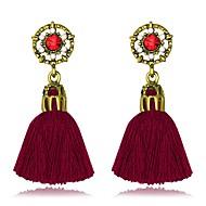 Žene Viseće naušnice Kićanka Moda Legura Line Shape Jewelry Obala Crn Sive boje Crvena Party Rad Nakit odjeće