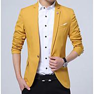 Herre Ensfarvet Simple Blazer