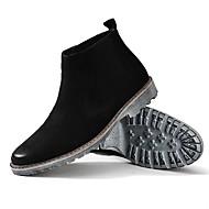 お買い得  メンズブーツ-男性用 靴 レザー 夏 コンフォートシューズ ブーツ ブーティー/アンクルブーツ ブラック Brown