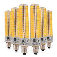 baratos Luzes LED de Dois Pinos-YWXLIGHT® 6pcs 10W 850-950lm E11 Luminárias de LED  Duplo-Pin T 136 Contas LED SMD 5730 Regulável Branco Quente / Branco Frio 220-240V /