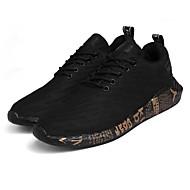 baratos Sapatos Masculinos-Homens Tule / Couro Ecológico Outono Conforto Tênis Corrida Dourado / Branco / Vermelho