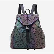 baratos Mochilas-Mulheres Bolsas PU mochila Botões Arco-íris