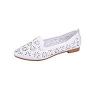 baratos Sapatos Femininos-Mulheres Sapatos Courino Primavera Verão Bailarina Rasos Sem Salto Dedo Apontado Preto / Azul / Rosa claro