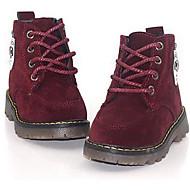 baratos Sapatos de Menino-Para Meninos Sapatos Pele Nobuck Inverno Coturnos Botas para Amarelo / Verde / Vinho