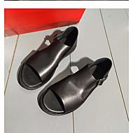olcso -Férfi cipő Bőr Nyár Kényelmes Szandálok Fekete