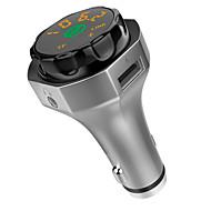 billiga Billaddare för mobilen-AP06 Bluetooth 4,2 Bil USB-laddare Socket Metallisk Bluetooth FM Transmitters Universal