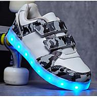 tanie Obuwie chłopięce-Dla chłopców Obuwie PU Jesień Wygoda / Świecące buty Adidasy na Biały / Czarny / Zielony