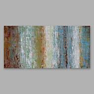 billiga Abstrakta målningar-Hang målad oljemålning HANDMÅLAD - Abstrakt Moderna Annat