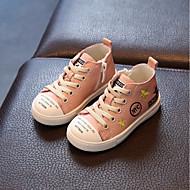 お買い得  フラワーガールシューズ-女の子 靴 レザー 秋 フラワーガールシューズ コンフォートシューズ のために 子供用 カジュアル ブラック ベージュ ピンク