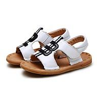 baratos Sapatos de Menino-Para Meninos Sapatos Couro Verão Primeiros Passos / Sapatos para Daminhas de Honra Sandálias Velcro para Bebê Branco / Preto / Castanho