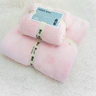 billiga Handdukar och badrockar-Överlägsen kvalitet Badhandduk set, Enfärgad 100% Polyester 2 pcs