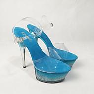 Χαμηλού Κόστους Shoes Trends-Γυναικεία Παπούτσια PVC Ανοιξη καλοκαίρι Βασική Γόβα Τακούνια Τακούνι Στιλέτο Ανοικτή Μύτη Βυσσινί / Φούξια / Μπλε