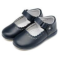 baratos Sapatos de Menina-Para Meninas Sapatos Couro Primavera & Outono Conforto Rasos Velcro para Infantil / Bébé Azul Escuro / Festas & Noite