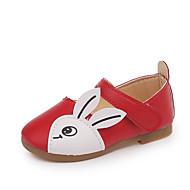 baratos Sapatos de Menina-Para Meninas Sapatos Couro Ecológico Primavera Verão Conforto Rasos Caminhada Estampa Animal / Velcro para Bebê Preto / Vermelho / Rosa