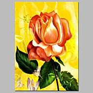billiga Blom-/växtmålningar-Hang målad oljemålning HANDMÅLAD - Stilleben Blommig / Botanisk Traditionell Duk