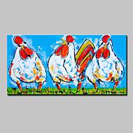 billiga Abstrakta målningar-Hang målad oljemålning HANDMÅLAD - Abstrakt Popkonst Moderna Duk