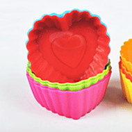 billige Bakeredskap-kjøkken Verktøy Silikon Enkel / baking Tool / Kreativ Kjøkken Gadget Gjør Det Selv Støpeform Kake 12pcs