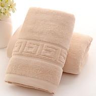 billiga Handdukar och badrockar-Överlägsen kvalitet Tvätt handduk, Enfärgad / Geometrisk Polyester / Bomull Blandning / 100% bomull 1 pcs