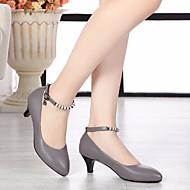 billige Moderne sko-Dame Moderne sko Lær Høye hæler Stiletthæl Dansesko Svart / Grå / Ytelse