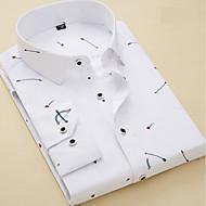 Men's Work Business / Basic Shirt - Striped / Geometric White 41 / Short Sleeve / Long Sleeve