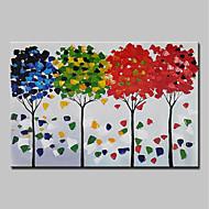 billiga Blom-/växtmålningar-mintura® handmålade abstrakta knivträd oljemålning på kanfas moderna väggkonstbilder för heminredning redo att hänga