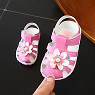 baratos Sapatos de Menina-Para Meninas Sapatos Courino Primavera Verão Conforto Sandálias para Infantil / Bébé Branco / Pêssego / Rosa claro