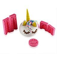 baratos Moldes para Bolos-Ferramentas bakeware Borracha Silicone / Silicone / Gel De Silicone 3D / Faça Você Mesmo Biscoito / Chocolate / Para utensílios de cozinha Animal Moldes de bolos 5pçs