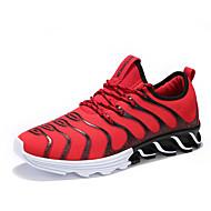 Homme Chaussures Tissu Printemps Automne Semelles Légères Chaussures d'Athlétisme  Marche pour Athlétique Noir / blanc Noir / Rouge Noir /