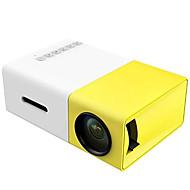 povoljno -yg300 punjivi ugrađeni baterijski projektor 600 lumen 3,5 mm audio 320x240 piksela yg-300 hdmi usb mini projektor kućni medijski uređaj