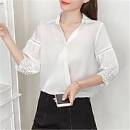 Krave Dame - Ensfarvet Skjorte