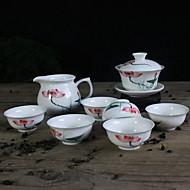 billige Kaffe og te-8pcs Porselen Tekannesett Varmebestandig ,  9.5*9.5*9;12*8*6.5;6.5*6.5*3cm