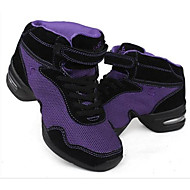 billige Dansesneakers-Dame Dansesko / Moderne sko Lær Joggesko Kubansk hæl Dansesko Svart / Lilla / Svart / Rød / Ytelse / Trening