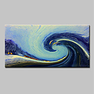 cheap Oil Paintings-Oil Painting Hand Painted - Abstract / Landscape Modern Canvas