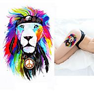 billiga Temporära tatueringar-5pcs Klistermärken & Tejpar / Klistermärke Djurserier Tatueringsklistermärken