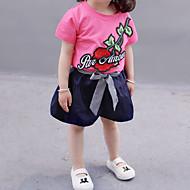 Dijete koje je tek prohodalo Djevojčice Jednobojni / Cvjetni print Kratkih rukava Komplet odjeće